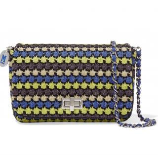 M Missoni Leather-trimmed Metallic Crochet-knit Shoulder