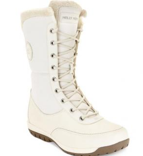 Helly Hansen White Nora Faux-Fur Boots