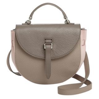 Meli Melo pebbled leather saddle bag