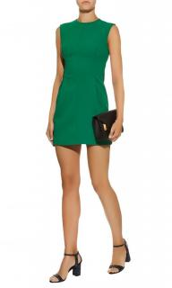 Maje Green Pleated Crepe Dress