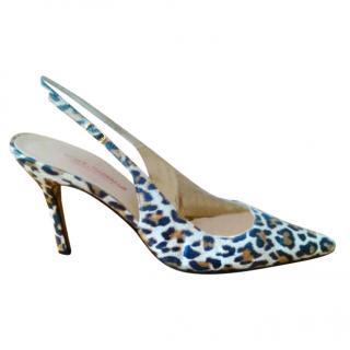 Dolce & Gabbana Leopard Print Slingback Sandals