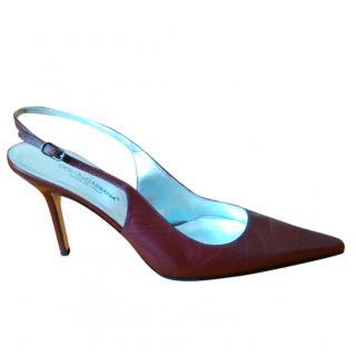 Dolce & Gabbana Burgundy Slingback Sandals