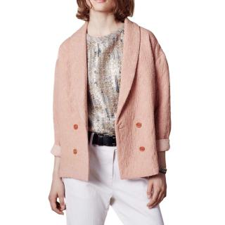 Sessun Pink Jacquard Jacket