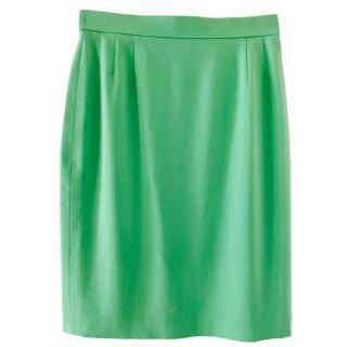 Escada Mint Green Tweed Skirt