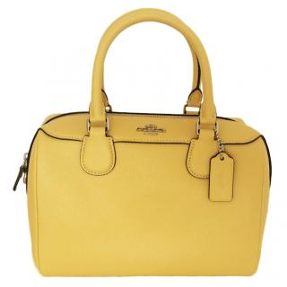 Coach Yellow Leather Top Handle Bag