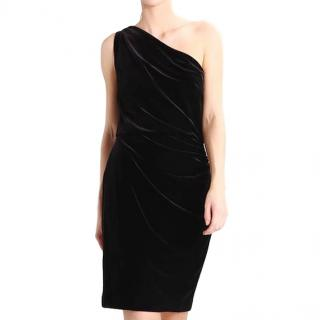 Lauren Ralph Lauren Velvet One-Shoulder Dress