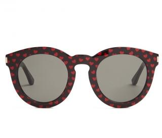 Saint Laurent Heart Print Sunglasses