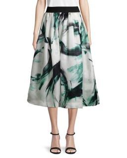 Dolce & Gabbana Brushstroke Silk Organza Skirt