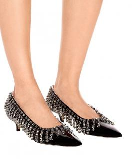 Christopher Kane embellished black leather pumps