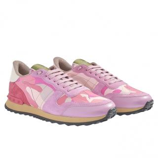 Valentino Pink Camouflage Sneakers