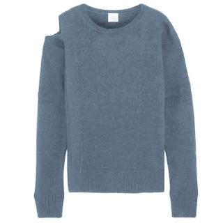 Iris & Ink Grey Nora Cold Shoulder Jumper