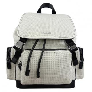 Michael Kors Henry White Perforated Backpack