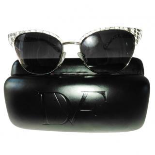 Diane Von Furstenberg Snakeskin Zianna Sunglasses