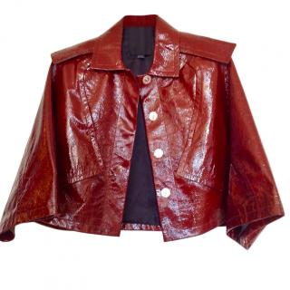 Alexander Wang Patent Leather Cropped Jacket