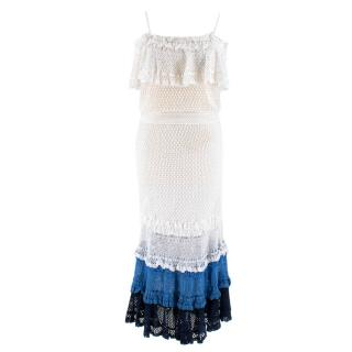 Jonathan Simkhai Ruffled Crochet Skirt & Top