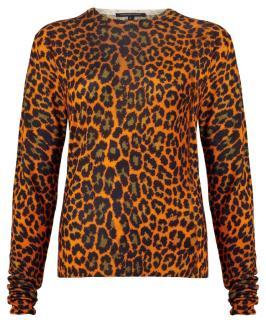 Christopher Kane Orange Leopard Print Jumper
