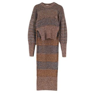 Esteban Cortazar High Neck Metallic Knit Jumper