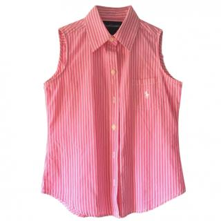 Ralph Lauren Girls Striped Sleeveless Shirt