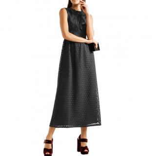 Red Valentino point d'esprit black dress