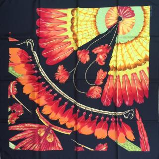 Hermes Brazil Detail II Silk Scarf 90