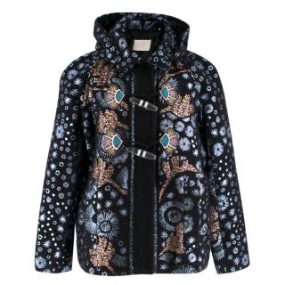 Peter Pilotto Mohair Embroidered Coat