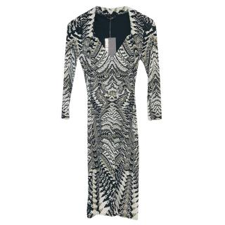 Roberto Cavalli Snake Printed Midi Dress