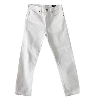 Vince White Distressed Jeans