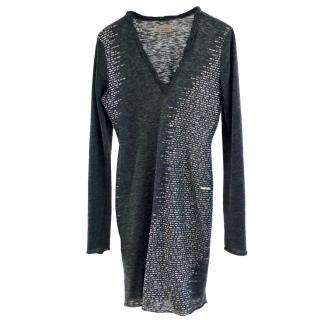 Costume National Jersey anthracite wool-blend dress