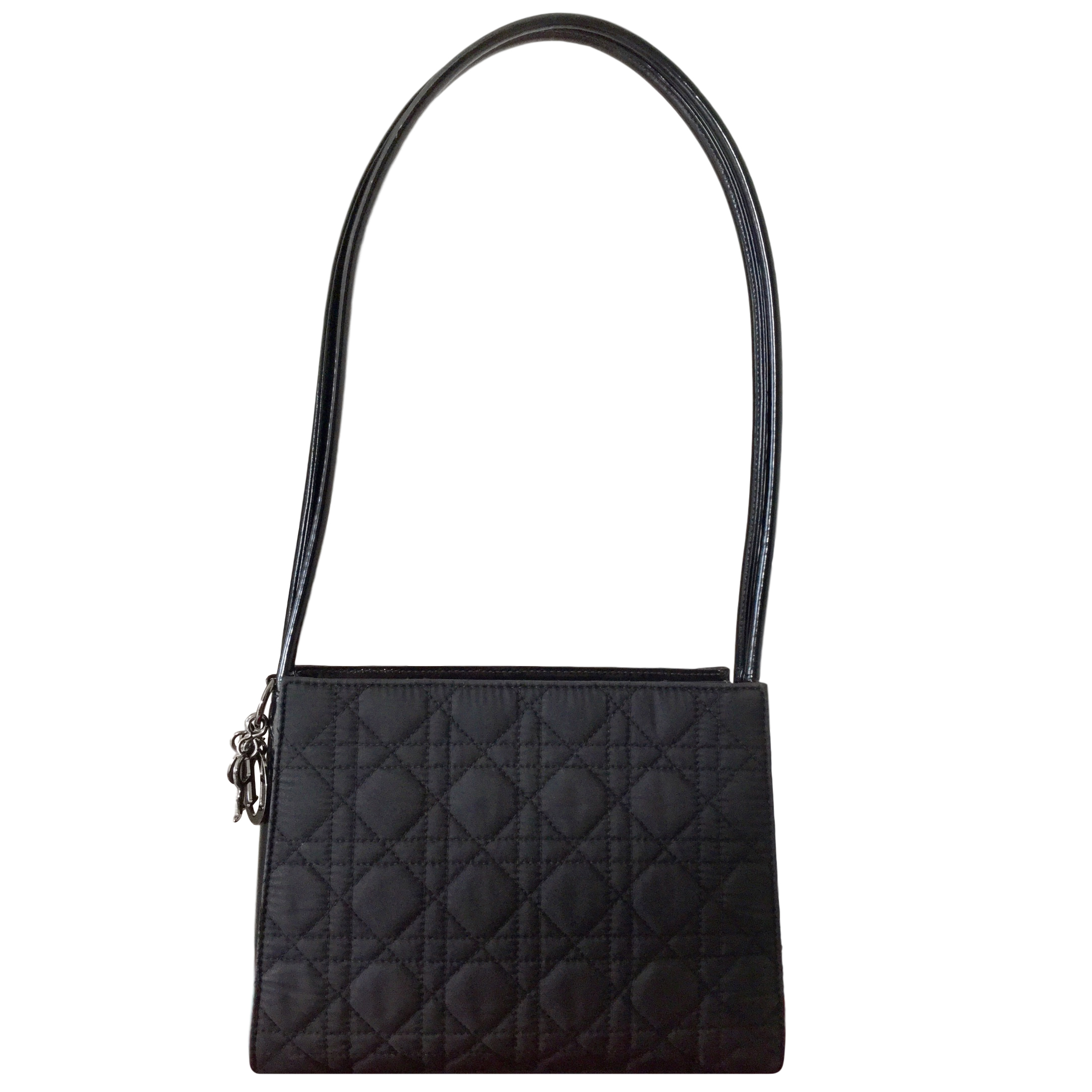 Christian Dior Black Cannage Leather Tote