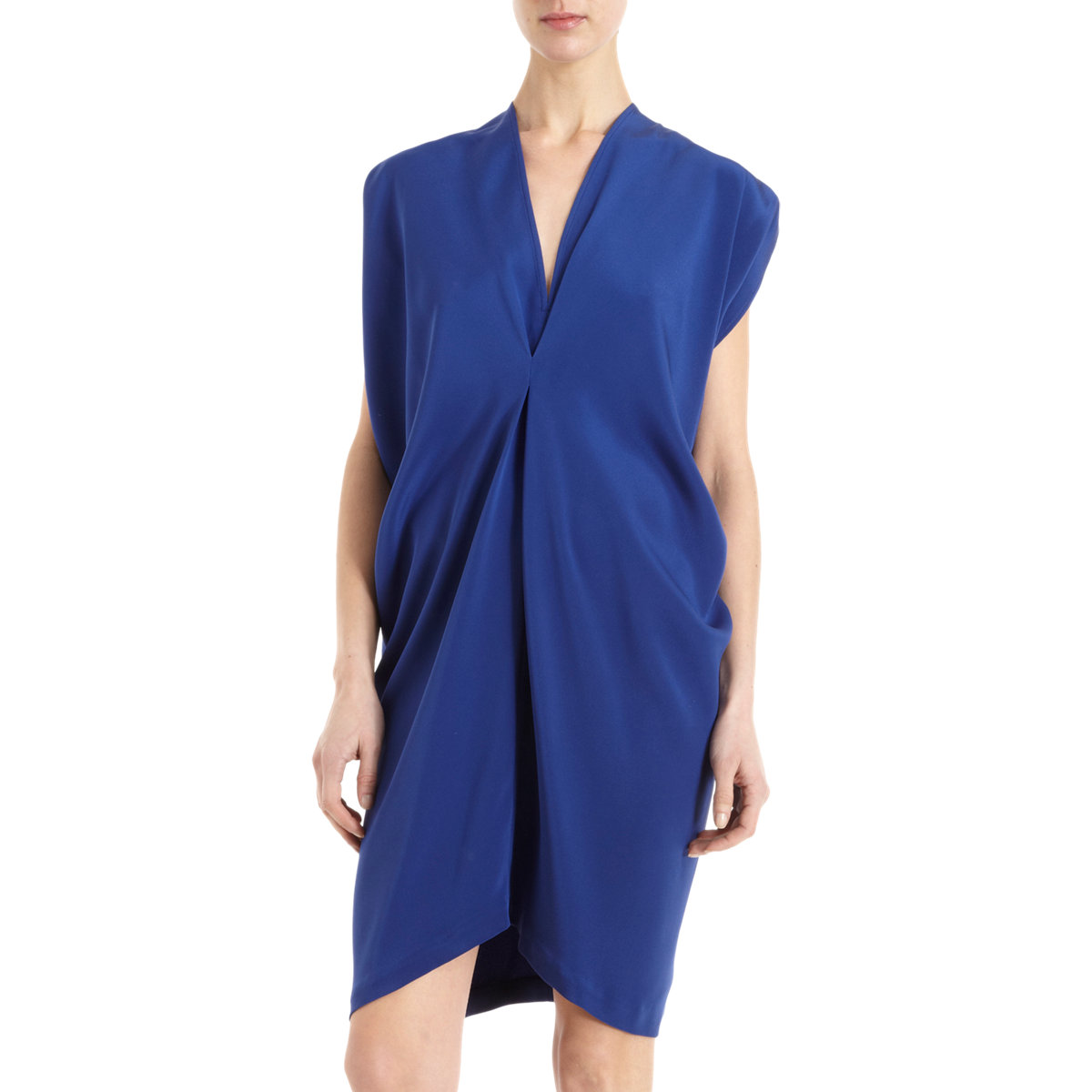 Zero+Maria Cornejo Blue Silk Issa Dress