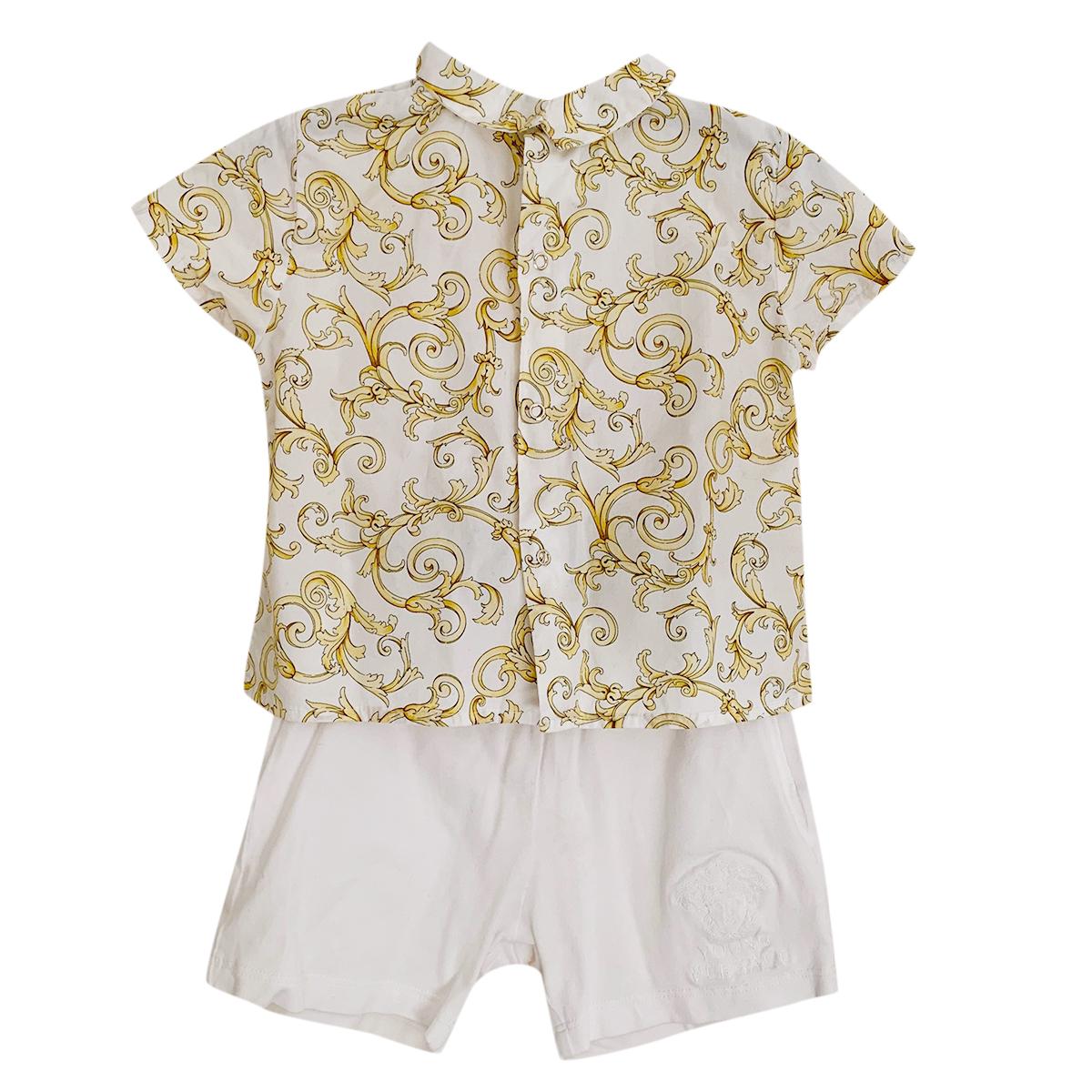 Young Versace Boys 12 months Shirt & Shorts