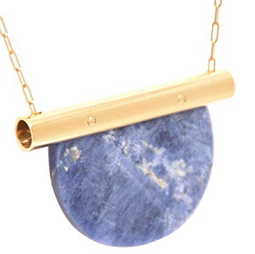 Marion Vidal Blue Marble Joly Necklace