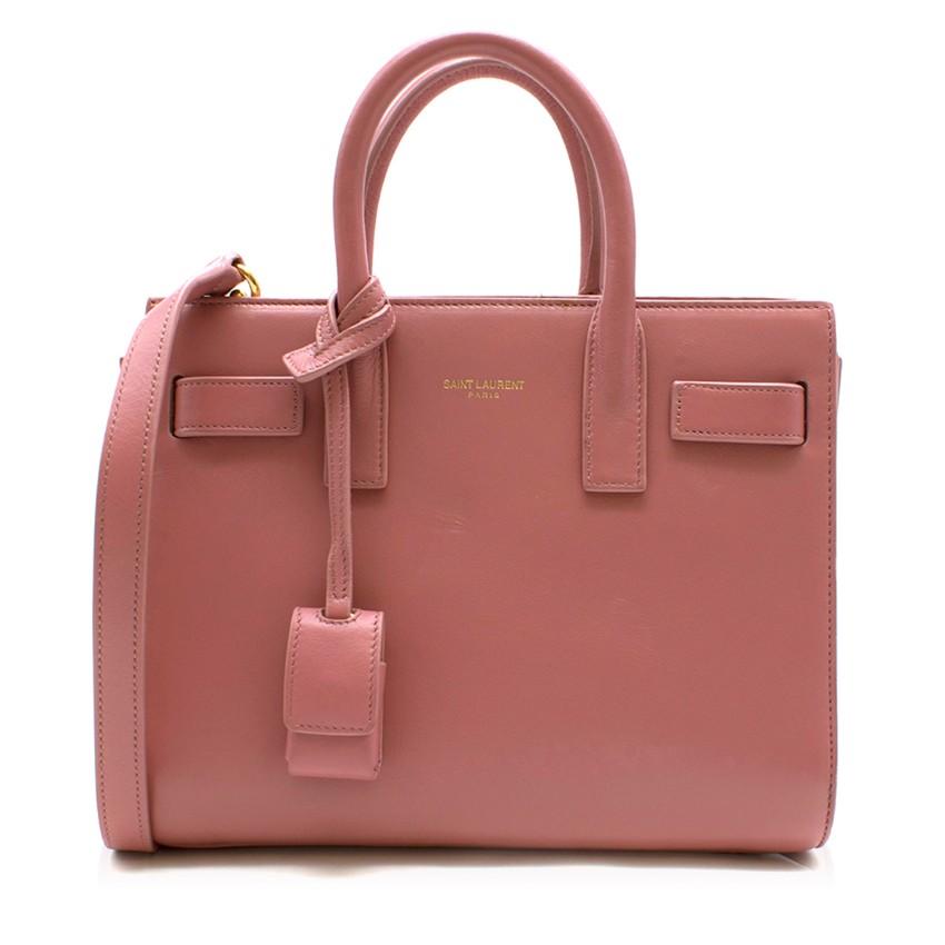 Saint Laurent Nano Sac De Jour Rose Pink Bag