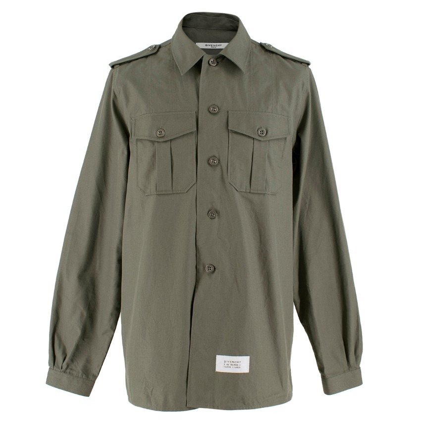 Givenchy Army Green Military Shirt