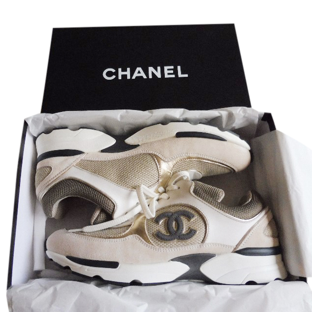 Chanel Leather Suede Cc Trainers | HEWI