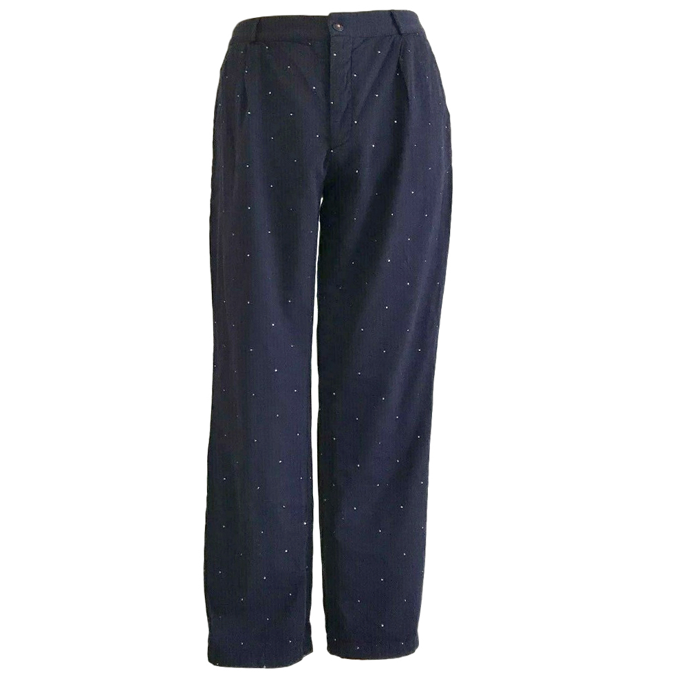 Chianti and Parker navy cotton chino trousers