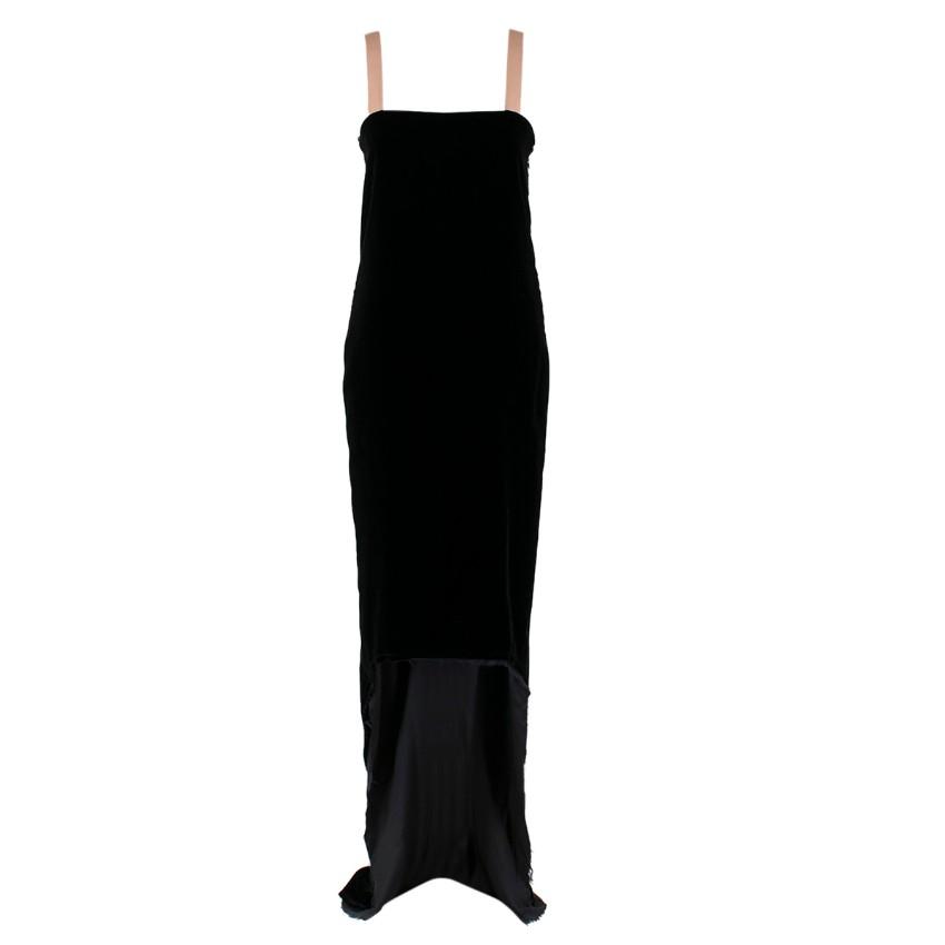 Lanvin by Alber Elbaz Black Velour Asymmetric Dress