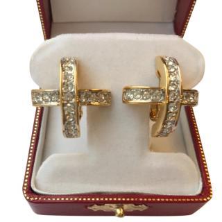 Nina Ricci Vintage Crystal X Earrings