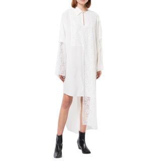 Loewe White Lace Panelled Shirt & Fisherman's Pants
