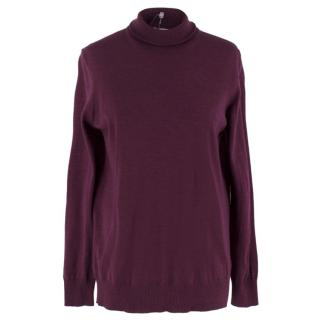Tomas Maier Purple Wool Jumper