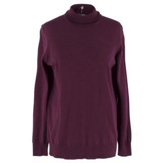 Tomas Maier Purple Wool Jumper