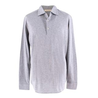 Luca Faloni Grey Men's Polo Top