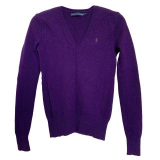 Ralph Lauren Purple Merino Wool Jumper