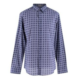 Bottega Veneta Blue Check Cotton Shirt