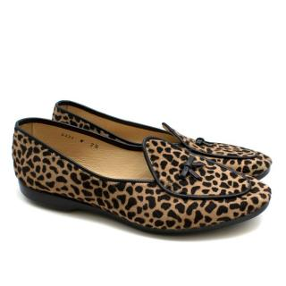 Belgian Shoes Cheetah Print Loafers