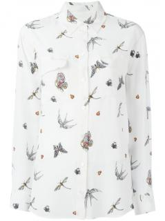 Equipment Femme Silk Bug Print Top