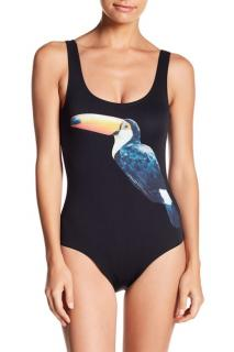 Onia Kelly Toucan Print One-Piece Swimsuit