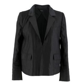 Joseph Black Knit Back Blazer