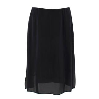 Escada Black Silk & Lace Skirt