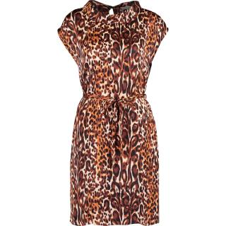Clements Ribeiro Leopard Print Draped Dress